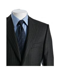 Hickey Freeman - Gray Loro Piana Grey Pinstripe Worsted Wool 2-button Vanguard Suit with Double Pleated Pants for Men - Lyst