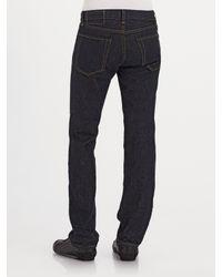 J Brand   Blue Kane Slim Straight-leg Jeans/raw for Men   Lyst