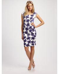 MILLY | Purple Katrina Sheath Dress | Lyst