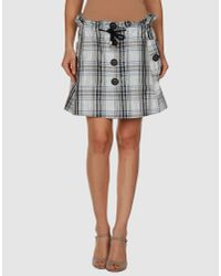 Patrizia Pepe   Gray Mini Skirt   Lyst