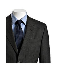 Prada - Gray Charcoal Striped Wool 2-button Suit with Flat Front Pants for Men - Lyst
