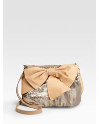 RED Valentino - Metallic Sequin Bow Crossbody Shoulder Bag - Lyst
