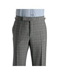 Tom Ford | Gray Black Plaid Wool-mohair 2-button Suit with Flat Front Pants for Men | Lyst