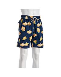 Vilebrequin | Blue Navy Sandwich Okoa Drawstring Swim Trunks for Men | Lyst