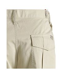 7 For All Mankind - Natural Cotton Twill Button Fly Cargo Shorts for Men - Lyst