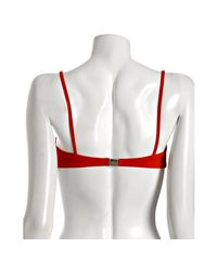 Badgley Mischka | Red Solid Shirred and Beaded Underwire Top | Lyst