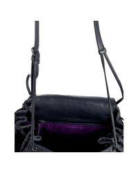 Bottega Veneta - Blue Navy Woven Leather Flap Shoulder Bag - Lyst