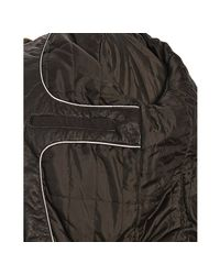 Calvin Klein | Brown Chocolate Bonded Poly Faux Fur Collar Coat for Men | Lyst