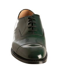 Church's | Dark Green Leather Consul Cap Toe Oxfords for Men | Lyst