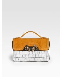 Derek Lam | Multicolor Beatrice Suede/leather Satchel Clutch | Lyst