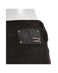 DIESEL - Black Stretch Bejo Denim Shorts - Lyst