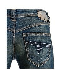 DIESEL | Blue Medium Wash Vixta Bootcut Jeans | Lyst