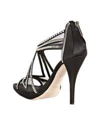 Dior - Black Mesh Starlight Crystal Detail Sandals - Lyst