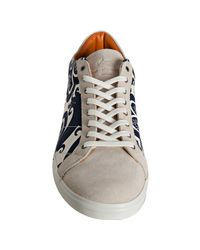 Etro | White Navy Paisley Canvas Lace-up Sneakers for Men | Lyst