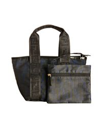 Fendi | Black and Indigo Zucca Canvas Mini Tote | Lyst
