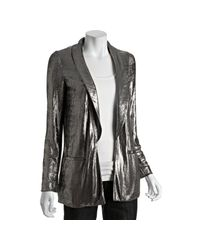 Gryphon | Metallic Silver Lame 1-button Jacket | Lyst