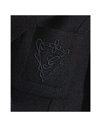 Gucci - Black Wool Drill Double-breasted Logo Pocket Coat - Lyst