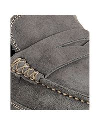Harry's Of London - Gray Dark Grey Suede Penny Driving Loafers for Men - Lyst
