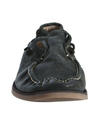 John Varvatos - Blue Night Sky Suede Beekman Oxford Loafers for Men - Lyst