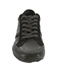 Kenneth Cole Reaction - Black Leather Ur Best Shot Sneakers for Men - Lyst