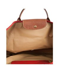 Longchamp | Red Rouge Nylon Le Pliage Medium Folding Tote | Lyst
