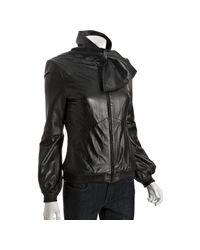 Mackage | Black Lamb Maggie Sash Collar Jacket | Lyst