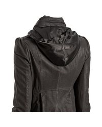 Mackage - Gray Gunmetal Lamb Leather Alexa Stand Collar Jacket - Lyst