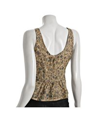 Marc By Marc Jacobs | Multicolor Bamboo Tan Floral Cotton Button Front Tank | Lyst