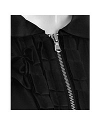 Marc By Marc Jacobs - Black Silk Twill Ruffle Zip Blouse - Lyst