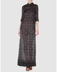 Marni | Black Rhythm Print Asymmetric Dress | Lyst