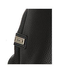 Paul Smith - Black Pebbled Leather Signature Stripe Messenger Bag for Men - Lyst
