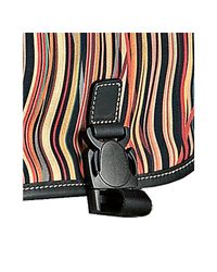 Paul Smith - Brown Striped Canvas Buckled Messenger Bag for Men - Lyst