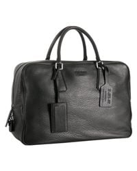 Prada - Black Deerskin Medium Travel Bag for Men - Lyst