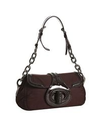 Prada | Purple Bordeaux Nylon and Patent Leather Turnlock Shoulder | Lyst