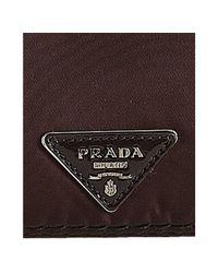 Prada | Purple Bordeaux Nylon and Patent Leather Turnlock Shoulder | Lyst