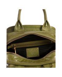 Prada - Green Vitello Shine Leather Bauletto Small Zip Satchel - Lyst