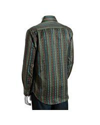 Robert Graham - Green Embroidered Stripe Zagaris Shirt for Men - Lyst