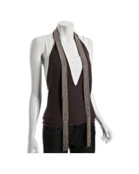 Robert Rodriguez | Purple Raisin Cashmere Sequin Sash Detail Tie Halter | Lyst