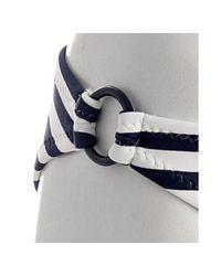 Shoshanna - Blue Navy Striped Ring Detail Bikini Bottom - Lyst