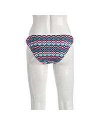 Shoshanna | Pink Mosaic Print Ring Bikini Bottom | Lyst