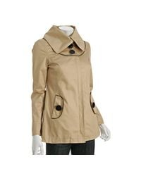 SOIA & KYO | Natural Sand Cotton Talia Wide Lapel Jacket | Lyst