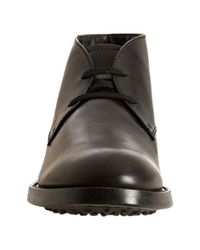 Tod's - Black Leather Esquire Giovane Chukka Boots for Men - Lyst