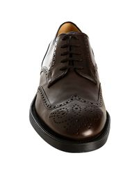 Tod's - Dark Brown Leather New Esquire Wing-tip Oxfords for Men - Lyst