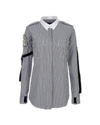 Balmain | Black Striped Shirt | Lyst