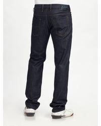 DIESEL | Blue Turbo Straight Slim-fit Jeans for Men | Lyst