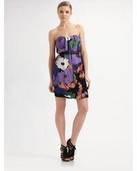 Tibi | Black Delphine Strapless Dress | Lyst
