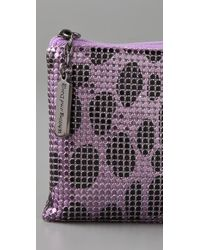 Whiting & Davis   Purple Dalmatian Utility Pouch   Lyst