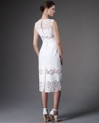 Dolce & Gabbana - White Lace-panel Embroidered Dress - Lyst