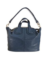 Givenchy - Blue Lambskin Nightingale Medium Top Handle Bag - Lyst