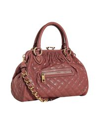 Marc Jacobs | Pink Rose Quilted Glazed Leather Stam Bag | Lyst